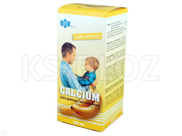Calcium POLFARMEX o sm. bananowym interakcje ulotka syrop 0,114 g Ca2+/5ml 150 ml