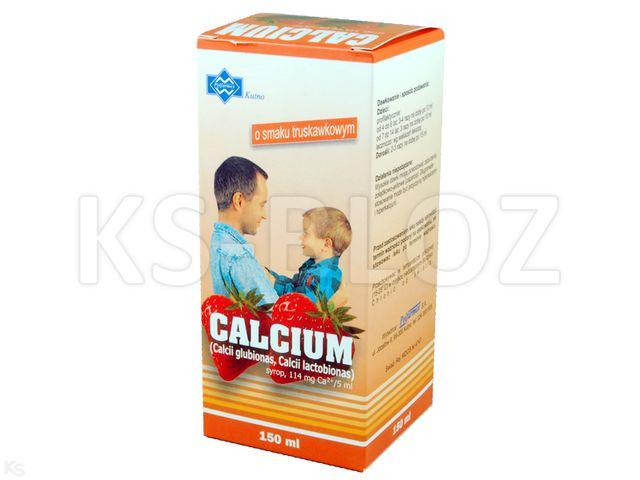 Calcium POLFARMEX o sm. truskawkowym interakcje ulotka syrop 0,114 g Ca2+/5ml 150 ml