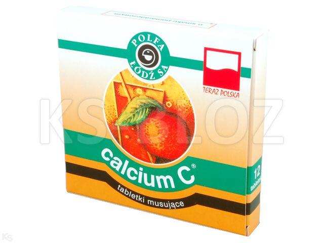 Calcium z wit.C Polfa-Łódź o sm.pomarańcz. (Calcium C pomarańcz.) interakcje ulotka tabletki musujące 0,2g Ca2+0,1g 12 tabl. | 3 blist.po 4 szt.