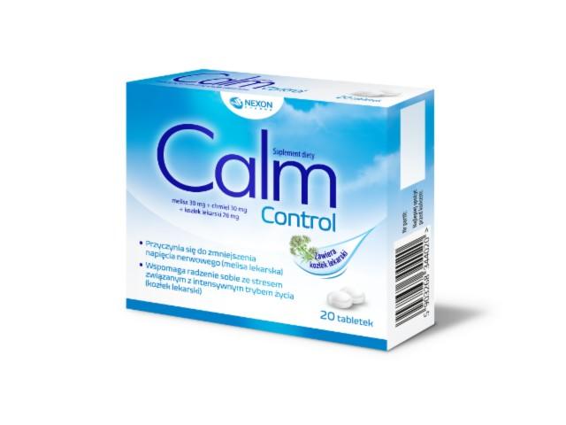 CalmControl interakcje ulotka tabletki  20 tabl.