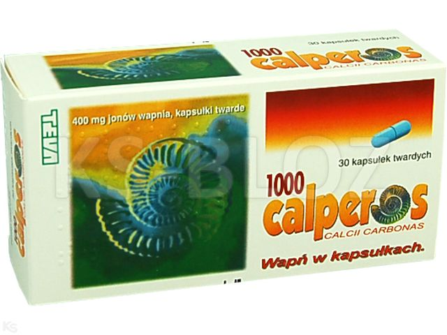 Calperos 1000 interakcje ulotka kapsułki twarde 0,4 g Ca2+ 30 kaps.