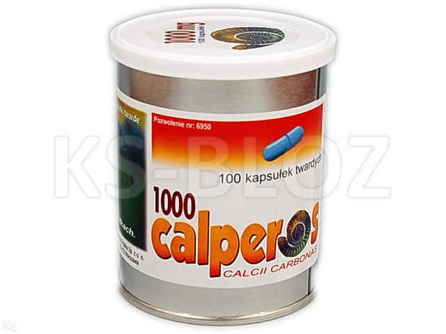 Calperos 1000 interakcje ulotka kapsułki twarde 0,4 g Ca2+ 100 kaps.
