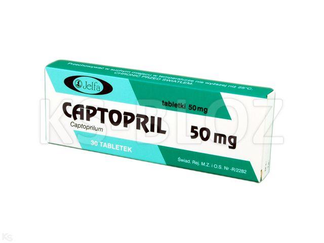Captopril Jelfa interakcje ulotka tabletki 0,05 g 30 tabl.