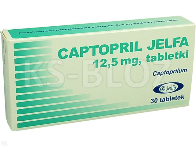 Captopril Jelfa interakcje ulotka tabletki 0,0125 g 30 tabl.