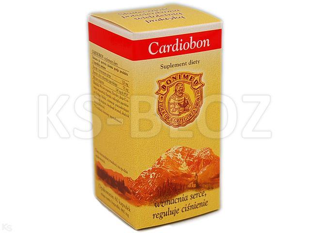 Cardiobon interakcje ulotka kapsułki  60 kaps.