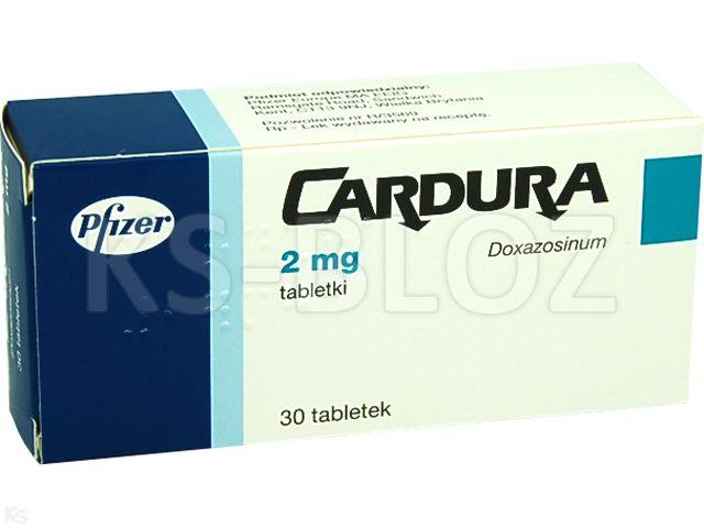 Cardura interakcje ulotka tabletki 2 mg 30 tabl.