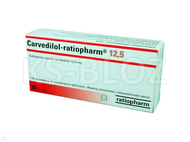 Carvedilol-ratiopharm 12,5 interakcje ulotka tabletki 0,0125 g 30 tabl.