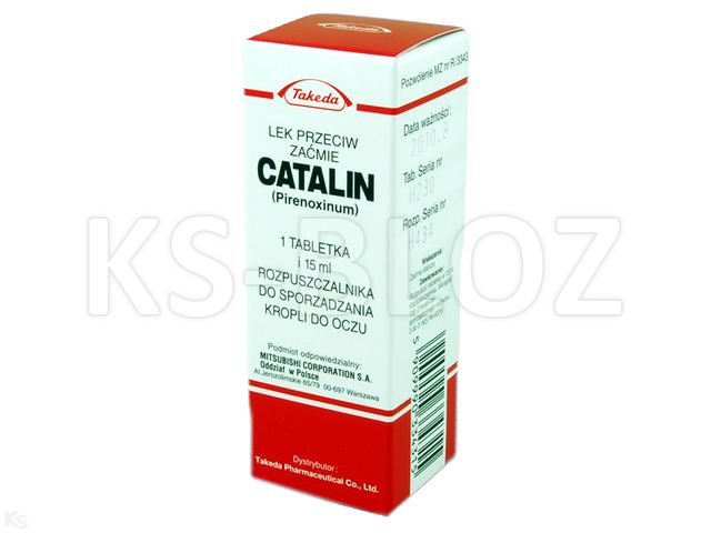 Catalin interakcje ulotka krople do oczu 0,75 mg 1 tabl.
