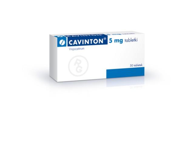 Cavinton interakcje ulotka tabletki 5 mg 50 tabl.