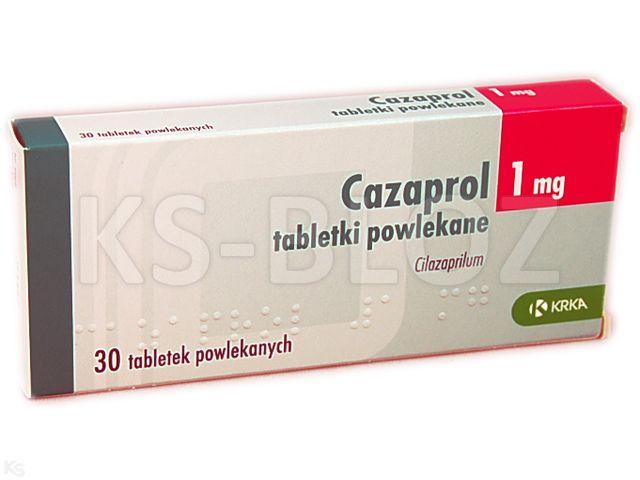 Cazaprol interakcje ulotka tabletki powlekane 1 mg 30 tabl.