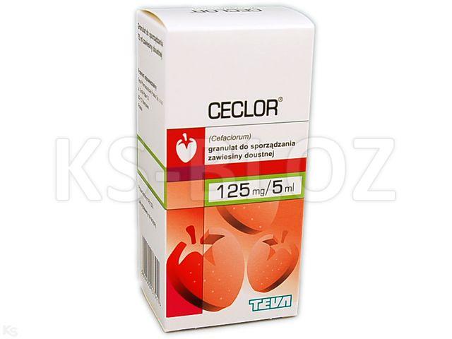 Ceclor interakcje ulotka granulat do przygotowania zawiesiny doustnej 0,125 g/5ml 75 ml