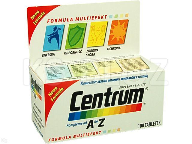 Centrum kompletne od A do Z Multiefekt interakcje ulotka tabletki  100 tabl.