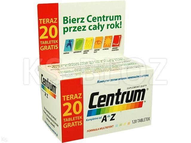 Centrum kompletne od A do Z Multiefekt interakcje ulotka tabletki  120 tabl.