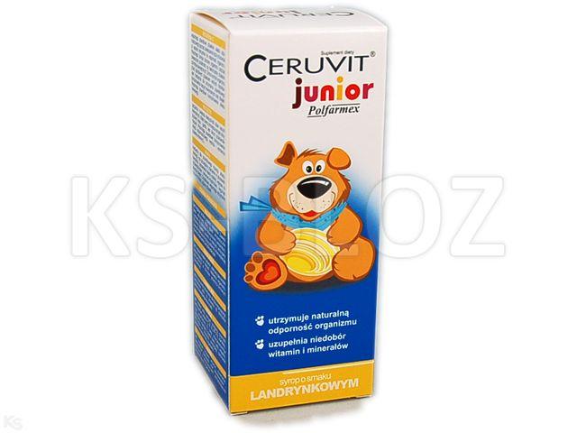 Ceruvit Junior Polfarmex sm.landrynkowy interakcje ulotka syrop  120 ml