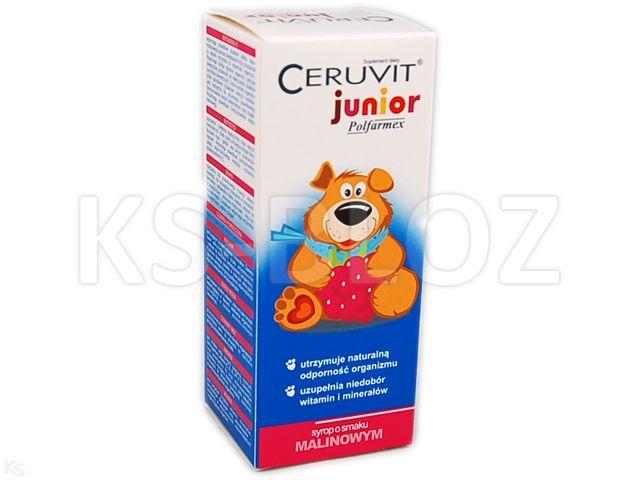Ceruvit Junior Polfarmex sm.malinowy interakcje ulotka syrop  120 ml
