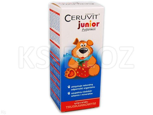 Ceruvit Junior Polfarmex sm.truskawkowy interakcje ulotka syrop  120 ml