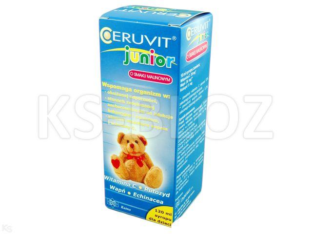 Ceruvit Junior sm.malinowy interakcje ulotka syrop  120 ml