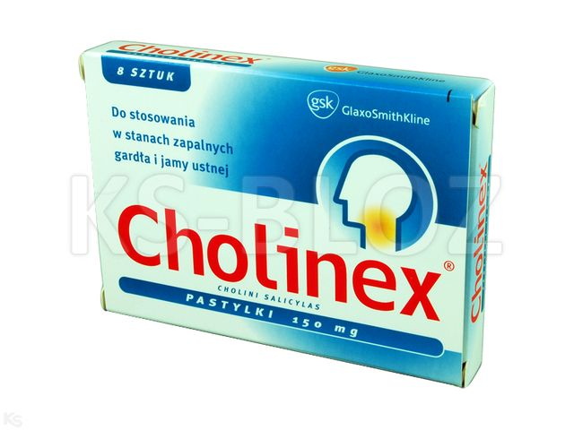 Cholinex interakcje ulotka pastylki twarde 0,15 g 8 pastyl.