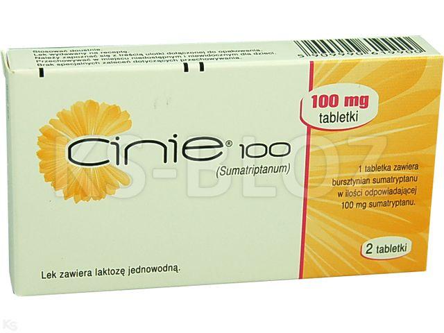 Cinie 100 interakcje ulotka tabletki 0,1 g 2 tabl.