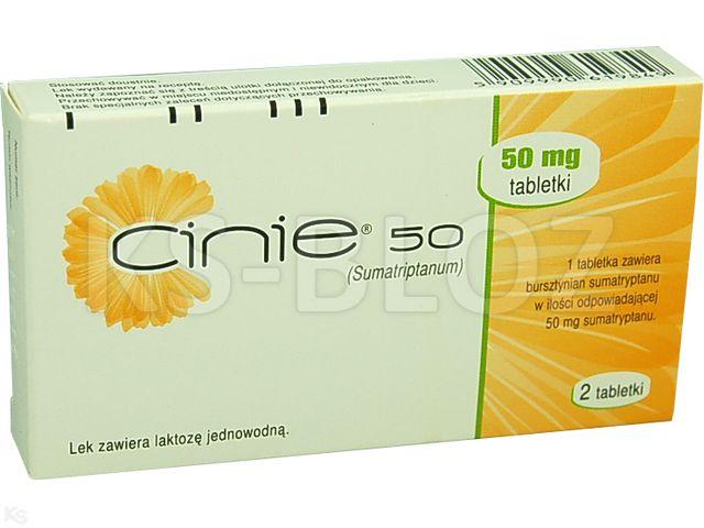 Cinie 50 interakcje ulotka tabletki 0,05 g 2 tabl.