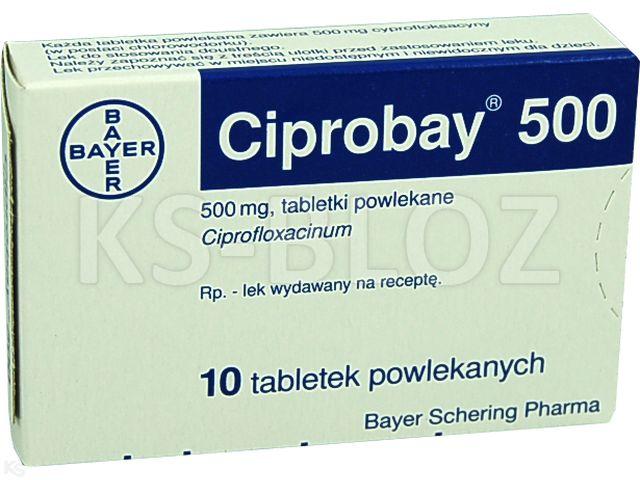 Ciprobay 500 interakcje ulotka tabletki powlekane 0,5 g 10 tabl.