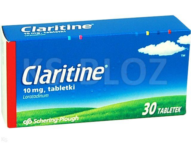 Claritine interakcje ulotka tabletki 0,01 g 30 tabl.