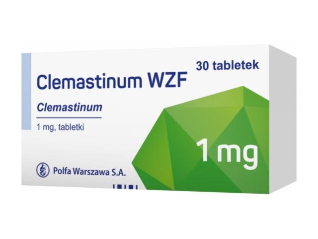 Clemastinum interakcje ulotka tabletki 1 mg 30 tabl.