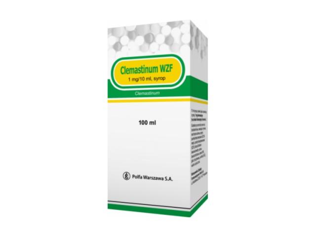Clemastinum WZF interakcje ulotka syrop 0,01 g/100ml 100 ml