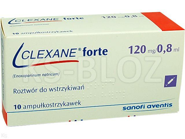 Clexane forte interakcje ulotka roztwór do wstrzykiwań 0,12 g/0,8ml 10 amp.-strz. po 0,8 ml