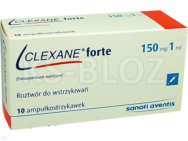 Clexane forte interakcje ulotka roztwór do wstrzykiwań 0,15 g/ml 10 amp.-strz. po 1 ml