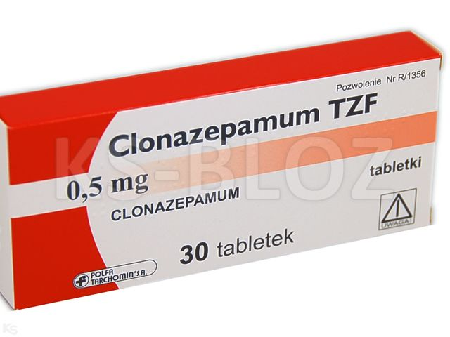 Clonazepamum TZF interakcje ulotka tabletki 0,5 mg 30 tabl. | 1 blist.po 30 szt.