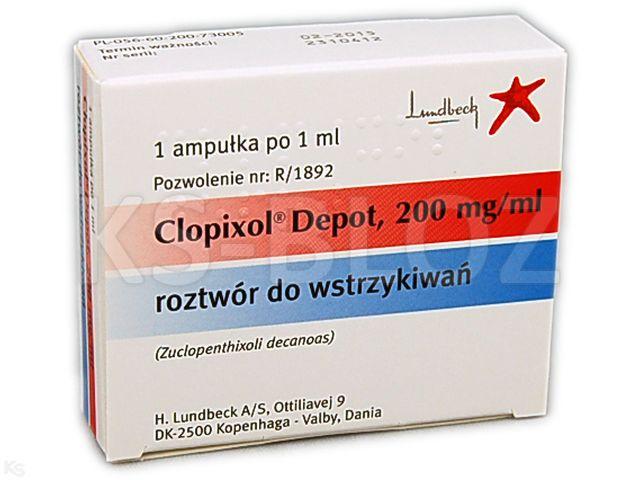 Clopixol Depot interakcje ulotka roztwór do wstrzykiwań 0,2 g/ml 1 amp. po 1 ml