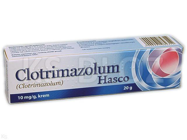 Clotrimazolum Hasco interakcje ulotka krem 0,01 g/g 20 g
