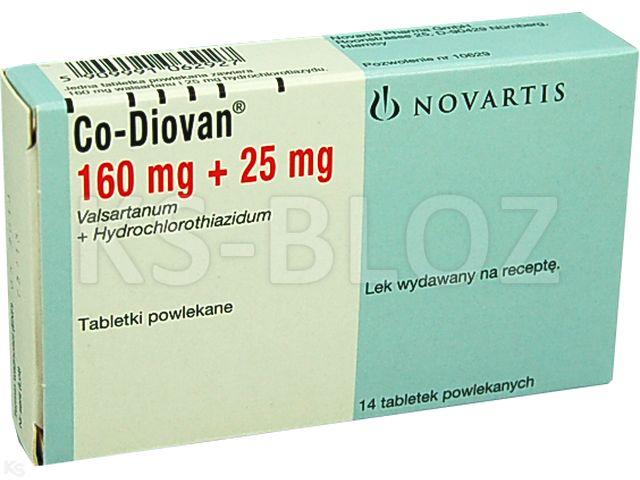 Co-Diovan interakcje ulotka tabletki powlekane 0,16g+0,025g 14 tabl.