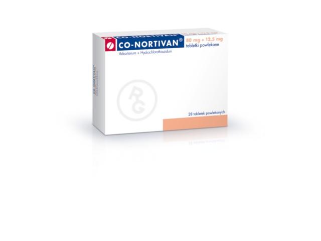 Co-Nortivan interakcje ulotka tabletki powlekane 0,08g+0,0125g 28 tabl.