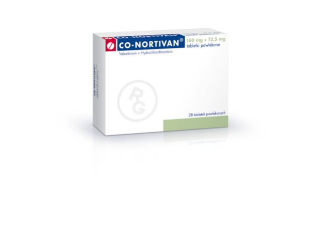 Co-Nortivan interakcje ulotka tabletki powlekane 0,16g+0,0125g 28 tabl.