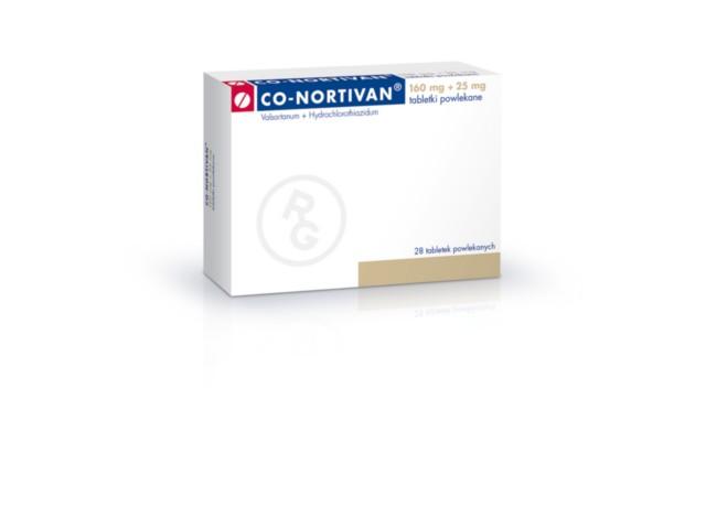 Co-Nortivan interakcje ulotka tabletki powlekane 0,16g+0,025g 28 tabl.