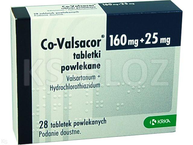 Co-Valsacor interakcje ulotka tabletki powlekane 0,16g+0,025g 28 tabl.