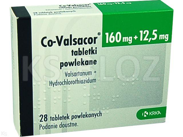 Co-Valsacor interakcje ulotka tabletki powlekane 0,16g+0,0125g 28 tabl.