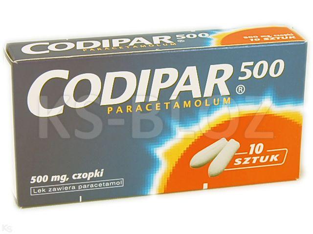 Codipar 500 interakcje ulotka czopki doodbytnicze 0,5 g 10 czop.