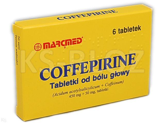 Coffepirine Tabletki od bólu głowy interakcje ulotka tabletki 0,45g+0,05g 6 tabl.