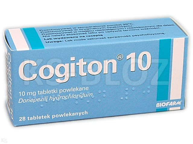 Cogiton 10 interakcje ulotka tabletki powlekane 0,01 g 28 tabl.