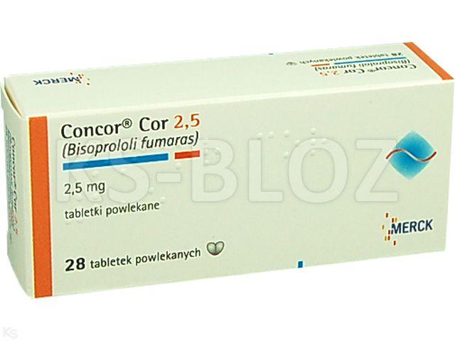 Concor Cor 2,5 interakcje ulotka tabletki powlekane 2,5 mg 28 tabl.