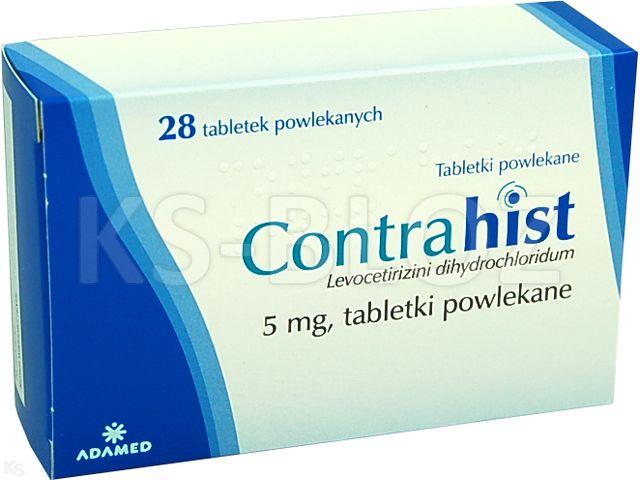 Contrahist interakcje ulotka tabletki powlekane 5 mg 28 tabl.