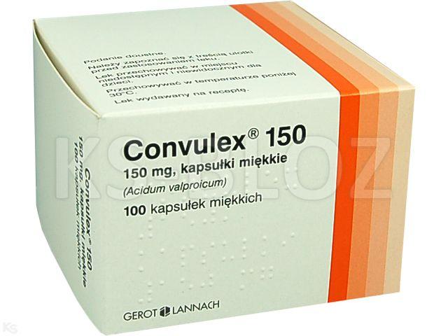 Convulex 150 interakcje ulotka kapsułki miękkie 0,15 g 100 kaps.