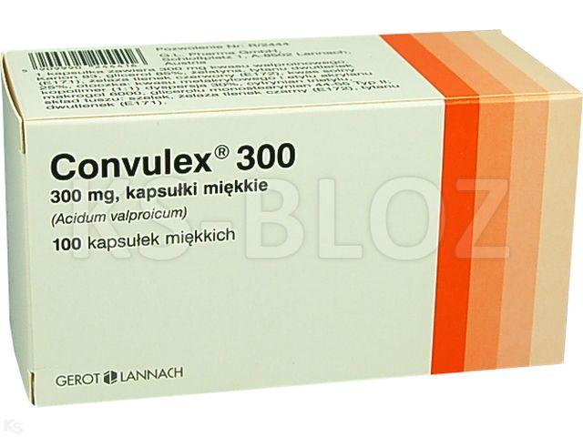 Convulex 300 interakcje ulotka kapsułki miękkie 0,3 g 100 kaps.