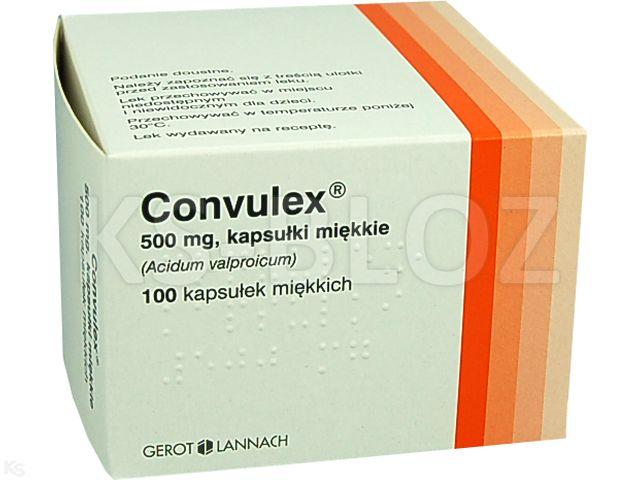 Convulex interakcje ulotka kapsułki miękkie 0,5 g 100 kaps.