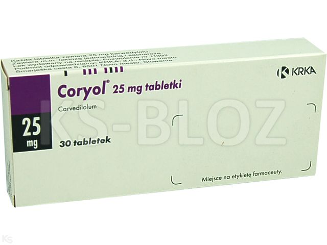 Coryol 25 interakcje ulotka tabletki 0,025 g 30 tabl.