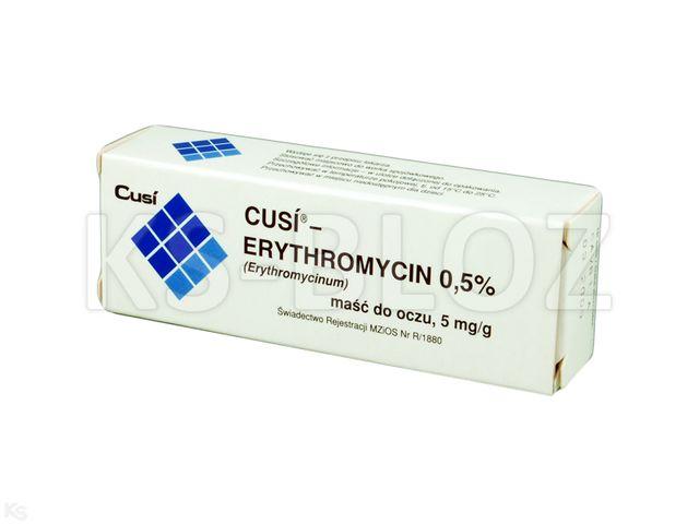 Cusi Erythromycin 0,5% interakcje ulotka maść do oczu 5 mg/g 3.5 g