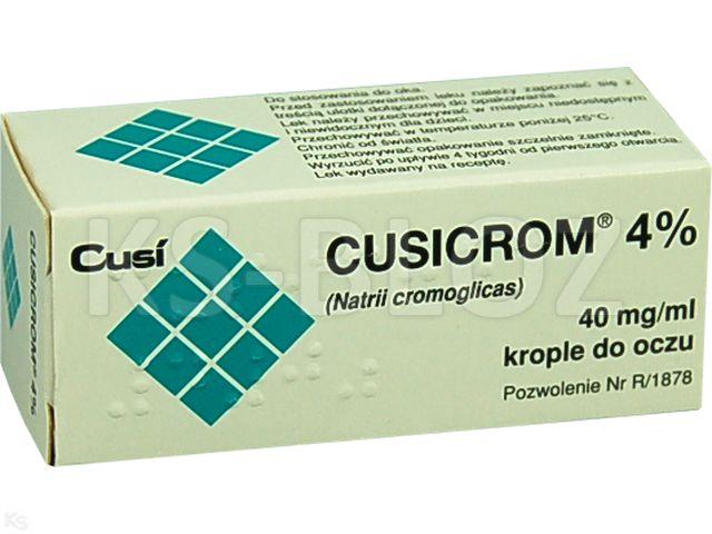 Cusicrom 4% interakcje ulotka krople do oczu 0,04 g/ml 10 ml